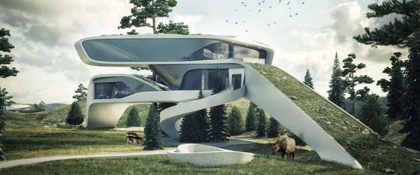 viviendas del futuro 3d